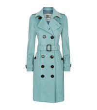 Burberry The Sandringham Long Cashmere Trench Coat Female Mint