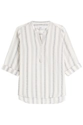 Closed Striped Cotton Blend Shirt Stripes