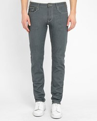 Armani Jeans Grey J93 Pr Contrasting Stitching Fitted Jeans