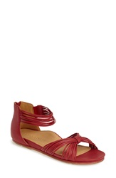 Lamour Des Pieds 'Danay' Ankle Strap Sandal Women Red Nappa