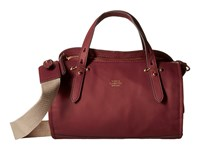 Vince Camuto Cass Small Satchel Malbec Natural Satchel Handbags Red