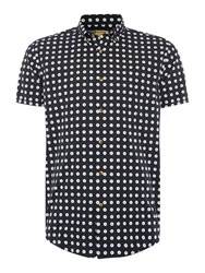 Barbour Short Sleeve Dotted Shirt Navy