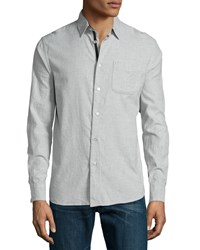 Rag And Bone Beach Long Sleeve Sport Shirt Gray