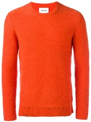 Harmony Paris Crew Neck Jumper Yellow Orange