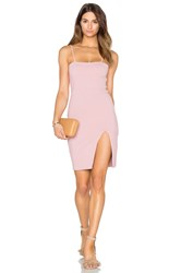 Donna Mizani Straight Neck Mini Dress Blush