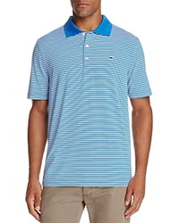 Vineyard Vines Performance Porter Stripe Regular Fit Polo Shirt Spinnaker