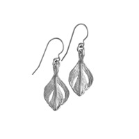 Chupi Tiny Swan Feather Earrings Silver