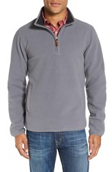 Nordstrom Men's Men's Shop Polar Fleece Quarter Zip Pullover Grey Shade