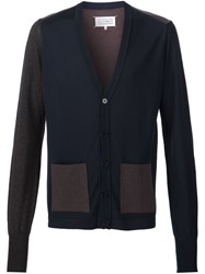 Maison Martin Margiela Colour Block Cardigan Brown