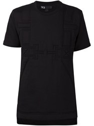 Y 3 Quilted T Shirt Black