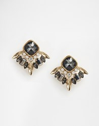 New Look Jewelled Stud Earrings Gold