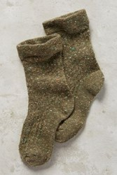 Anthropologie Tiny Tweed Ankle Socks Canteen