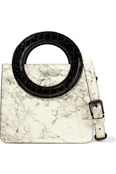 Opening Ceremony Lynx Marble Effect Leather Shoulder Bag White