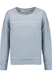 Iro Genanne Burnout Effect Cotton Jersey Sweatshirt Blue