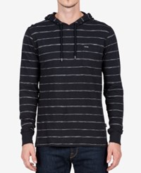 Volcom Men's Long Sleeve Eezy Hooded Shirt Black