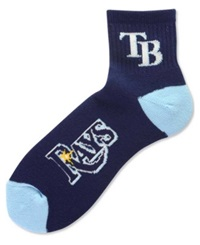 For Bare Feet Tampa Bay Rays Ankle Socks Navy Blue