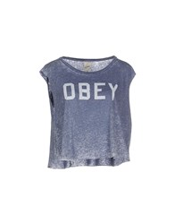 Obey Topwear T Shirts Women Pastel Blue