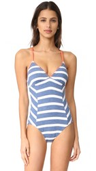 Splendid Chambray Cottage One Piece Blue