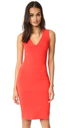 Narciso Rodriguez Sleeveless Knit Dress Red