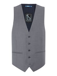 New And Lingwood Paletree Textured Suit Waistcoat Grey