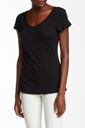 14Th And Union Raw Edge V Neck Tee Black