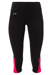 Under Armour Fly By 3 4 Sports Trousers Black Pink Reflective Anthracite