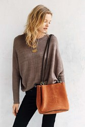 Kimchi And Blue Kimchi Blue Rings Suede Bucket Bag Brown