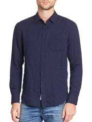 Rag And Bone Long Sleeve Beach Shirt Navyherr