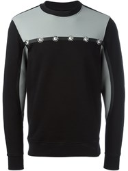 Versus Embellished Detail Sweatshirt Black
