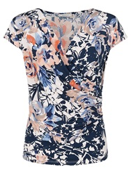 Kaliko Floral Wrap Jersey Top Multi
