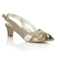 Lotus Valeria Open Toe Sandals Gold