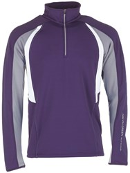 Galvin Green Donald Insula Half Zip Jumper Plum