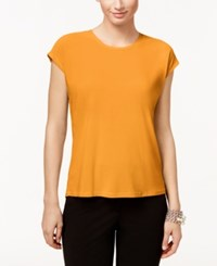 Cece By Cynthia Steffe Short Sleeve High Low Top Mandarin