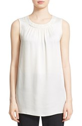 St. John Women's Collection Gathered Liquid Crepe Top