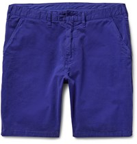 Paul Smith Stretch Cotton Twill Chino Shorts Blue