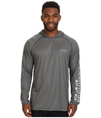 Columbia Terminal Tackle Hoodie Charcoal Grey Heather Cool Grey Logo Men's Sweatshirt Gray