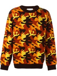 Gosha Rubchinskiy Camouflage Sweater Yellow And Orange