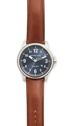 Michael Kors Paxton Leather Watch Silver Slate