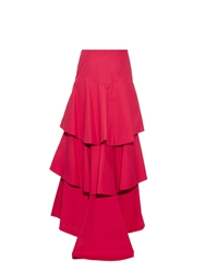 Rosie Assoulin Removable Tiered Cotton Skirt