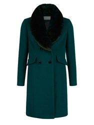 Kaliko Brushed Wool Coat Green