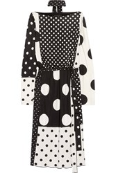 Marc Jacobs Polka Dot Stretch Jersey Dress Black