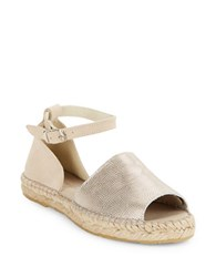 Kenneth Cole Sammy Colorblocked Espadrilles Sandals Silver