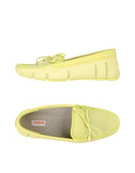 Swims Footwear Moccasins Women Acid Green