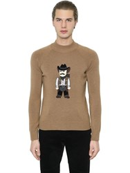 Dolce And Gabbana Cowboy Patch Wool Sweater