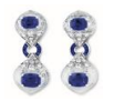 Fabio Salini Earrings Crystal With Sapphires Diamonds And Rock Crystal Blue
