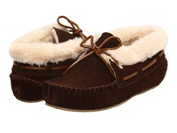 Minnetonka Chrissy Bootie Chocolate Suede Women's Slippers Brown