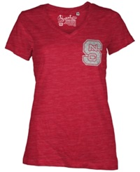 Royce Apparel Inc Women's North Carolina State Wolfpack Logo T Shirt Red
