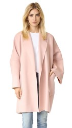 Helmut Lang Double Face Wool Coat Dusty Pink