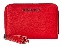 Armani Jeans Bifold Wallet With Tassle Detail Red