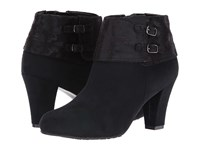 Soft Style Creel Black Faux Suede Black Paisley Faux Suede Women's Pull On Boots